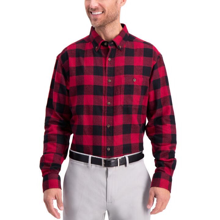 Buffalo Plaid Shirt, Tibetan Red