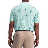 Palm Tree Crosshatch Polo, Bright Green 2