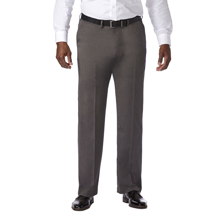 Big & Tall Premium Stretch Solid Dress Pant, Black / Charcoal open image in new window