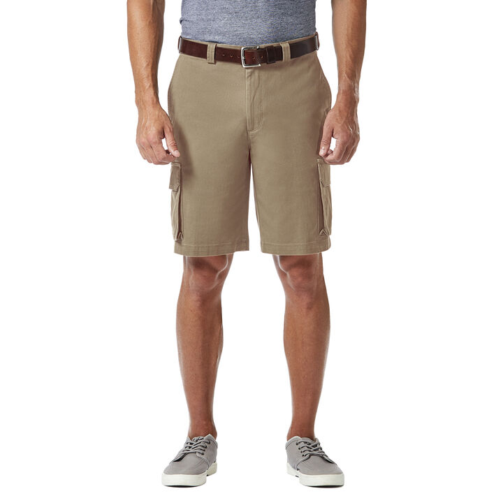 Stretch Cargo Short with Tech Pocket, Khaki