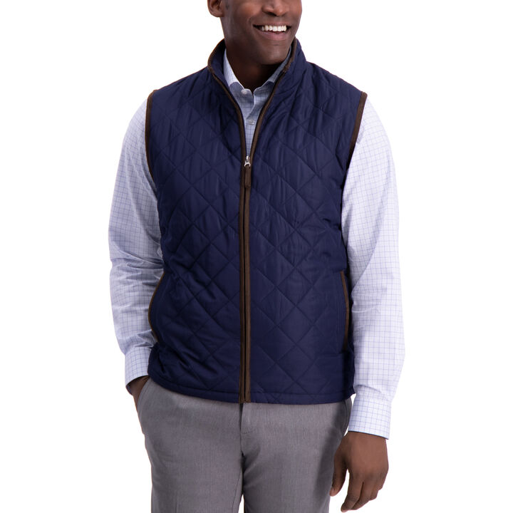 Diamond Quilted Vest, Midnight