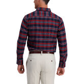 Medium Plaid Flannel Shirt, Navy 2