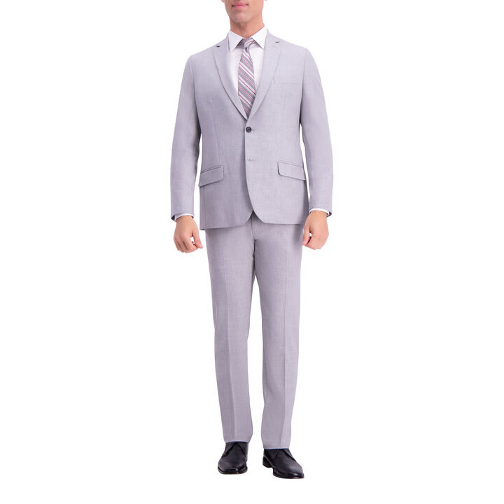 JM Haggar Slim 4 Way Stretch Suit Jacket, Light Grey, hi-res