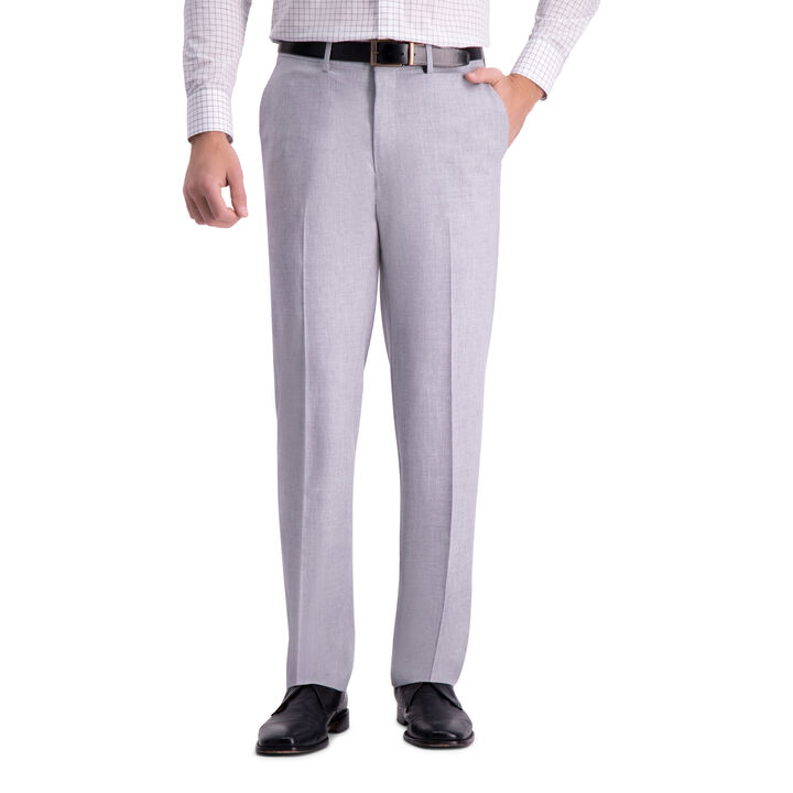 J.M. Haggar 4-Way Stretch Dress Pant, Light Grey open image in new window