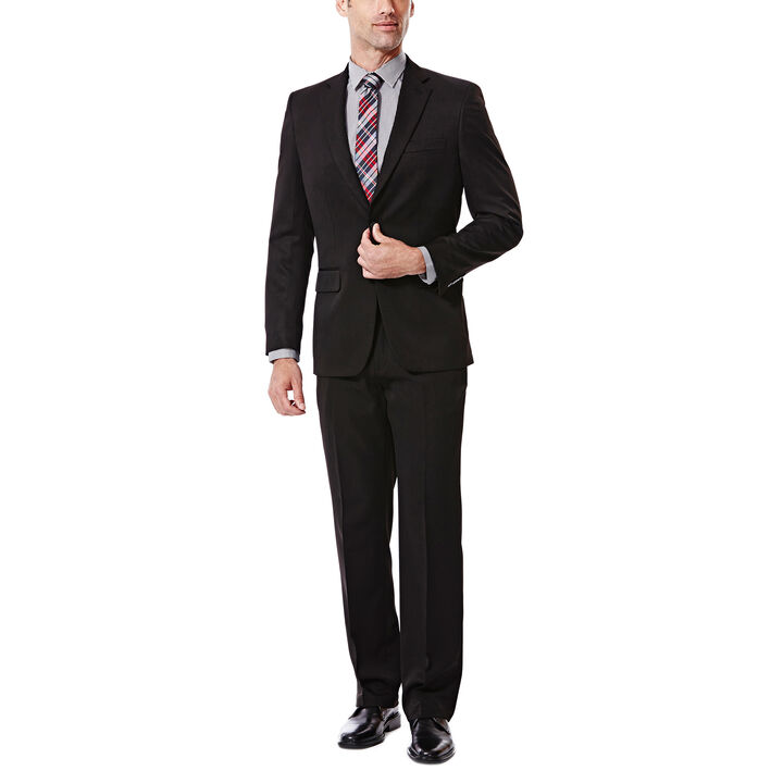Big & Tall Travel Performance Suit  Separates Jacket, Black, hi-res