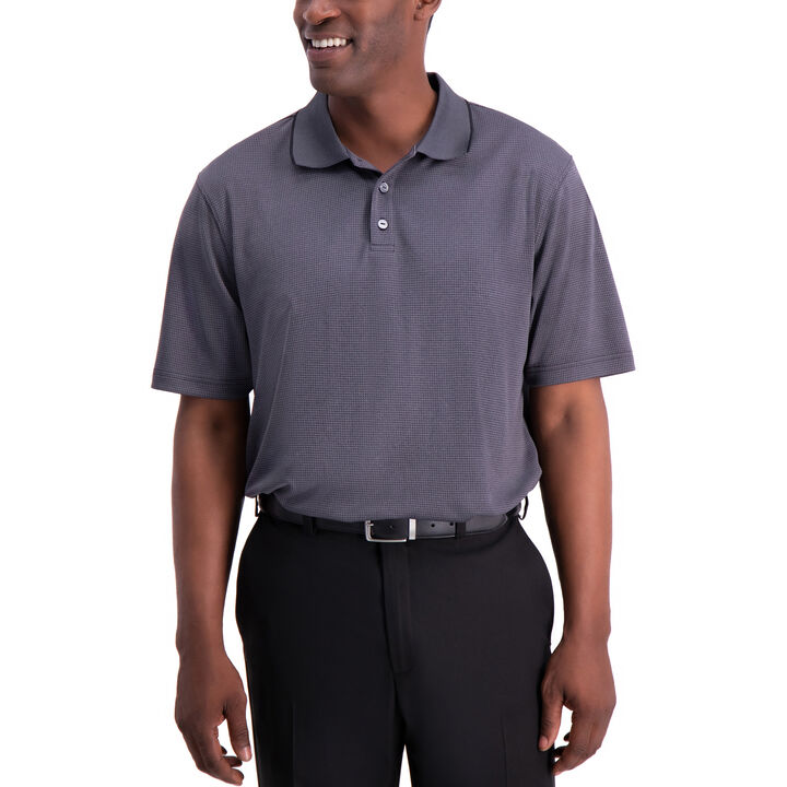 Cool 18® Houndstooth Polo, Black