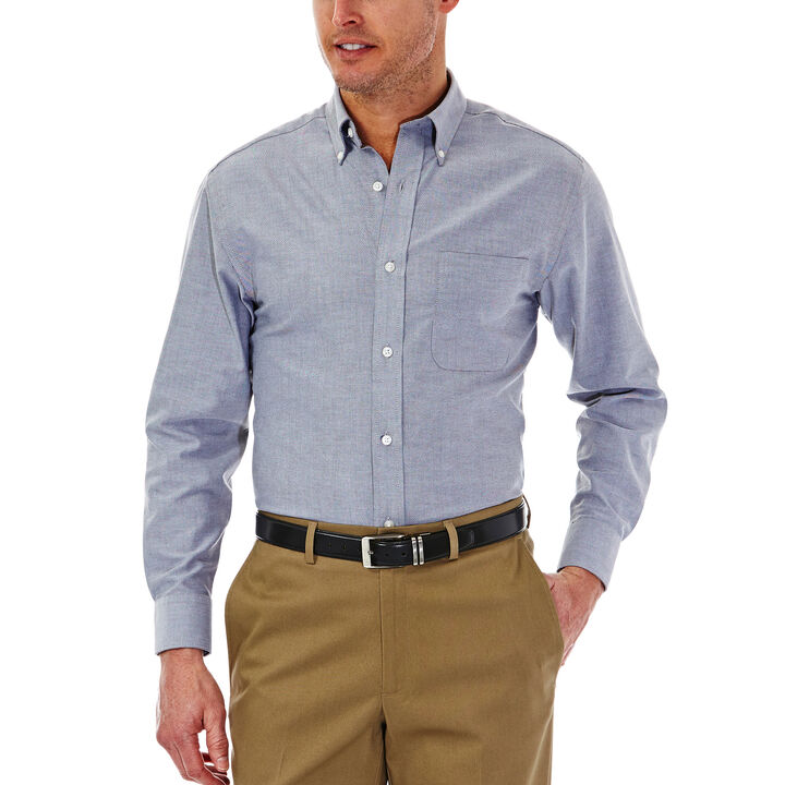 Solid Oxford Dress Shirt,