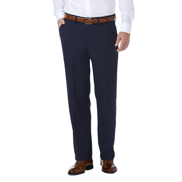 J.M. Haggar Premium Stretch Shadow Check Suit Pant, Blue open image in new window