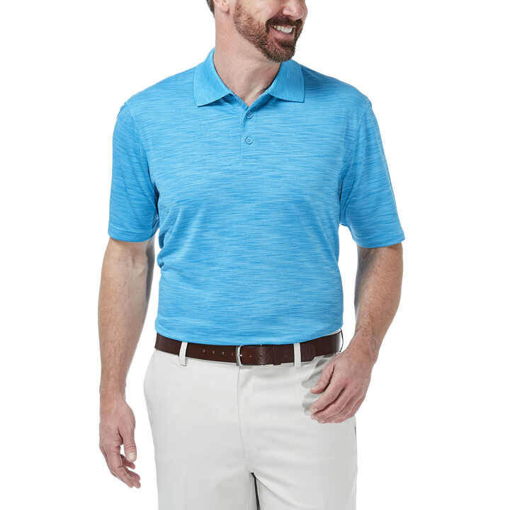 Cool 18® Space Dye Polo, Aspen Blue