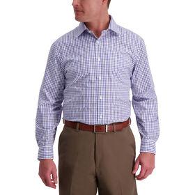 Blue Purple Gingham Premium Comfort Dress Shirt, Blue