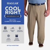 Big & Tall Cool Right® Performance Flex Pant, Khaki 5