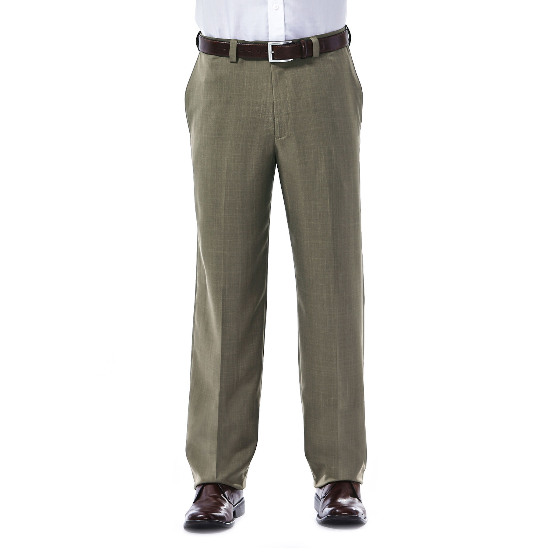 Haggar HD00218 Mens E-CLO Repreve Stria Flat Front Classic Fit Dress Pants