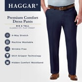 Big & Tall Premium Comfort Dress Pant, Black view# 6