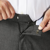 Big & Tall J.M. Haggar Dress Pant - Sharkskin, Dark Heather Grey 4