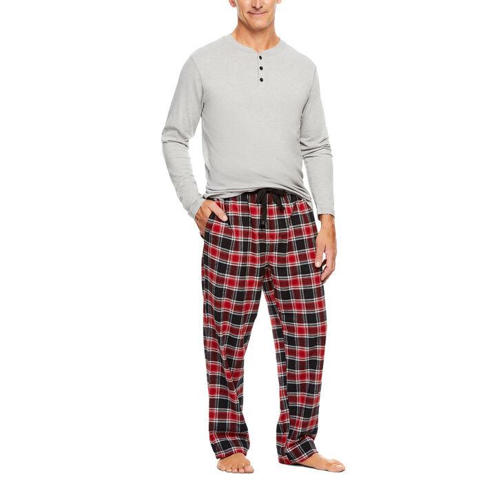 Cotton Flannel 2pc Set, Graphite
