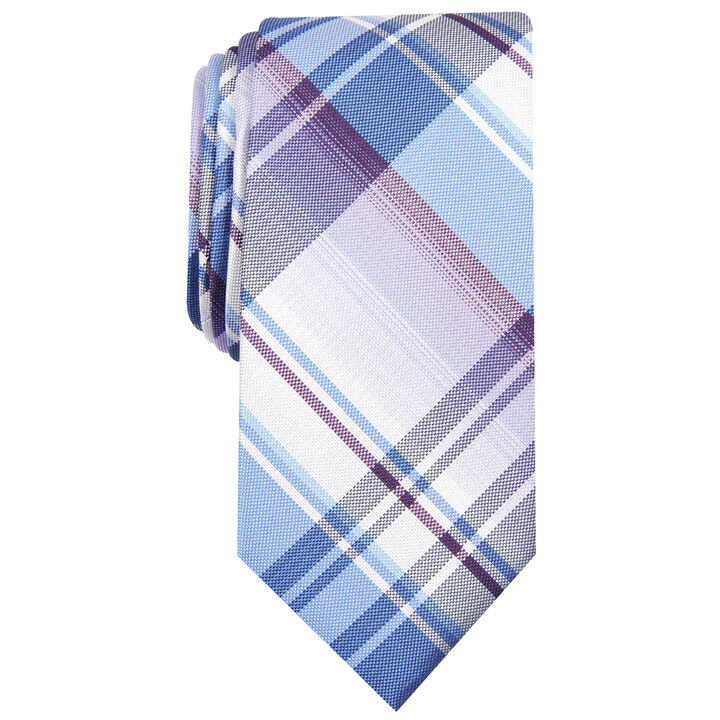 Ementh Plaid Tie, Purple