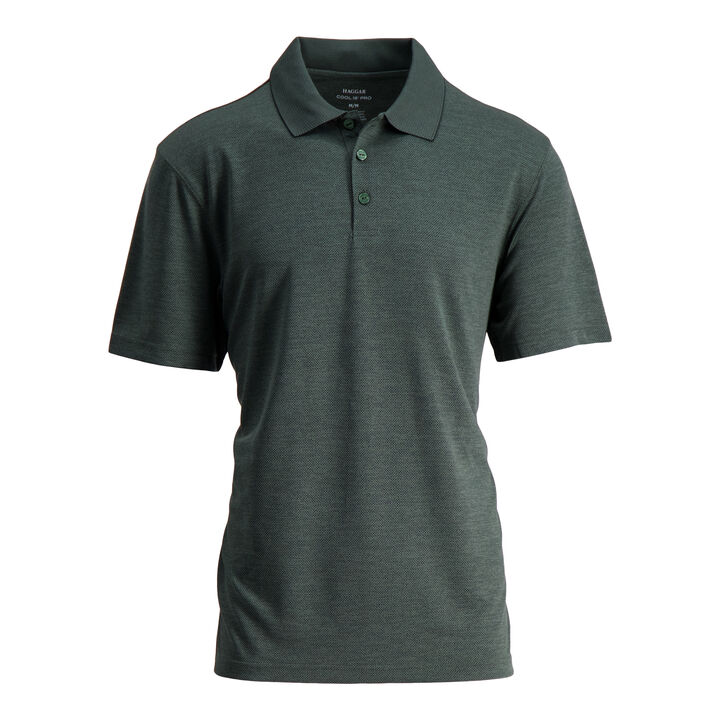 Cool 18® Pro Textured Golf Polo, Vine Heather