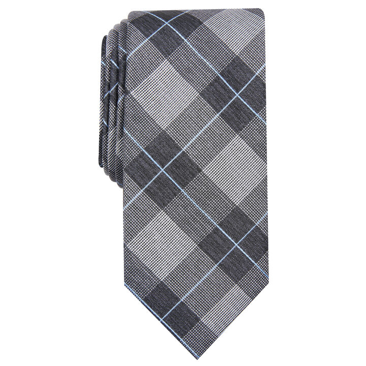 Bard Plaid Tie, Graphite