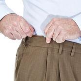 Big & Tall E-CLO™ Stria Dress Pant, Khaki view# 4