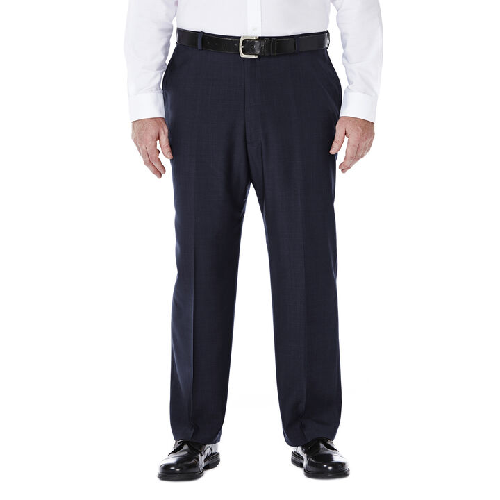 Big & Tall E-CLO™ Stria Dress Pant, Blue