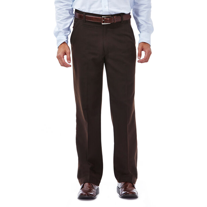 Haggar Heritage 5 Pocket Herringbone Pant,  Chocolate