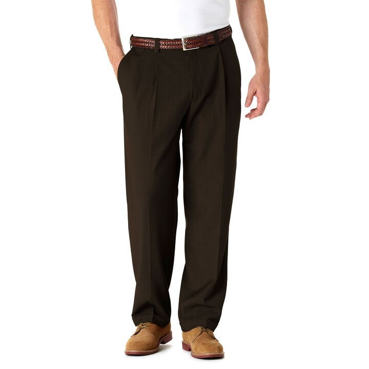 Big & Tall E-CLO™ Stria Dress Pant, Brown
