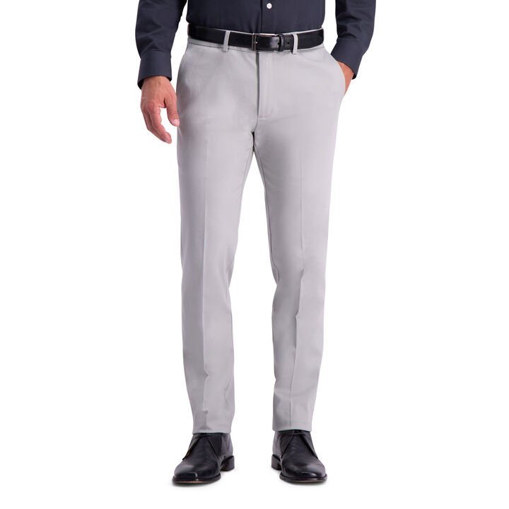 Premium No Iron Khaki Pant, Light Grey