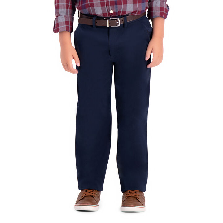 Boys Sustainable Chino Pant (8-20), Navy open image in new window
