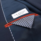 J.M. Haggar Houndstooth Suit Jacket, Navy, hi-res