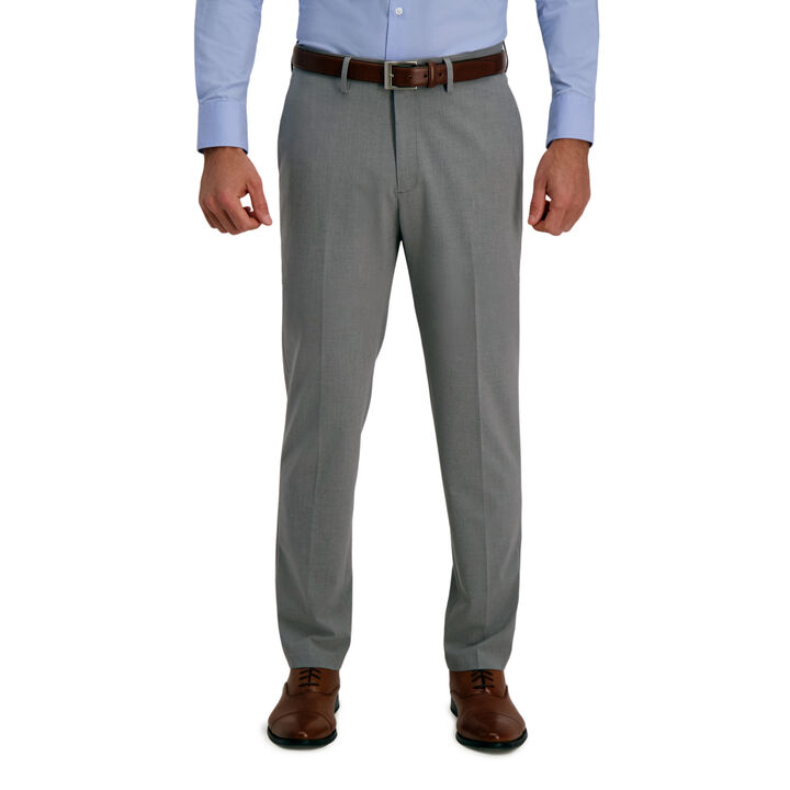 J.M. Haggar 4-Way Stretch Dress Pant - Solid, Grey open image in new window