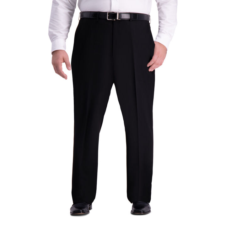 Big & Tall J.M. Haggar 4-Way Stretch Dress Pant, Black