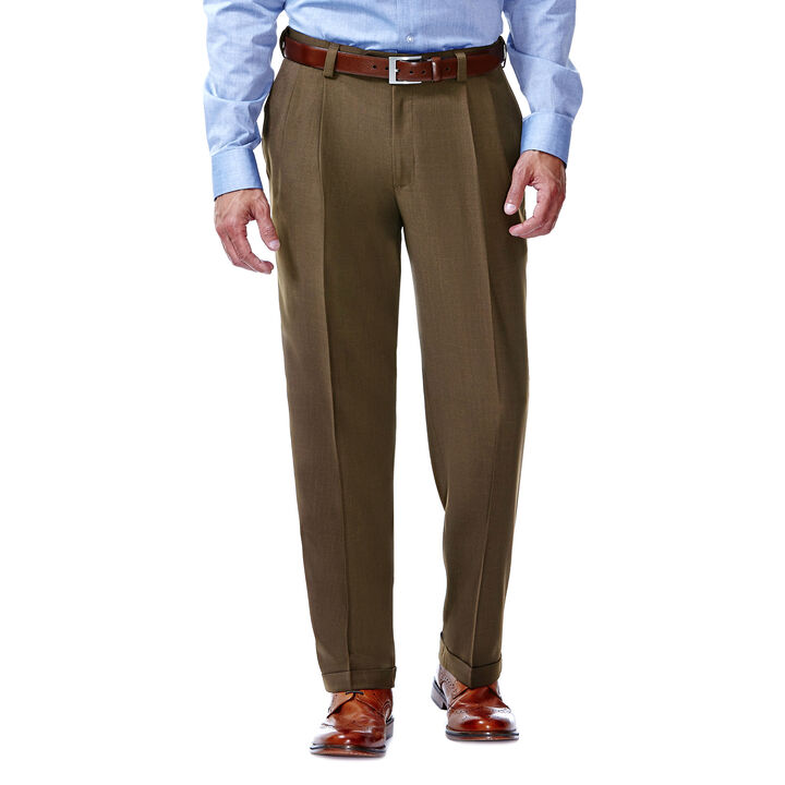 E-CLO™ Stria Dress Pant, Mocha open image in new window