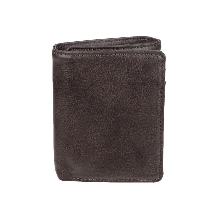 RFID Stretch Tri-fold Wallet, Brown