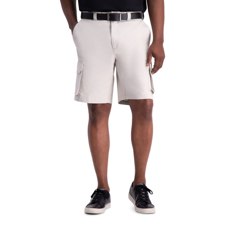 Stretch Cargo Short with Tech Pocket, Putty open image in new window