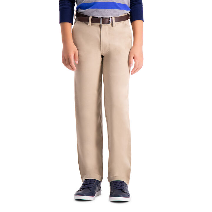 Boys Sustainable Chino Pant (8-20), Khaki open image in new window