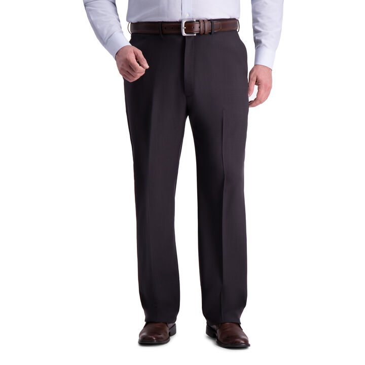 Big & Tall Premium Comfort Dress Pant, Black / Charcoal
