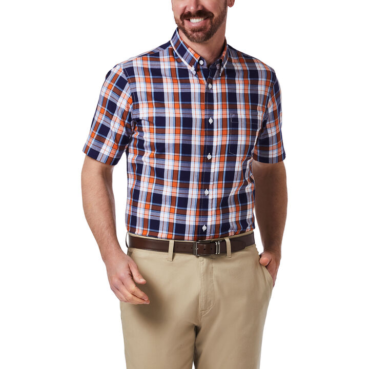 Plaid Button Down Shirt, Orange