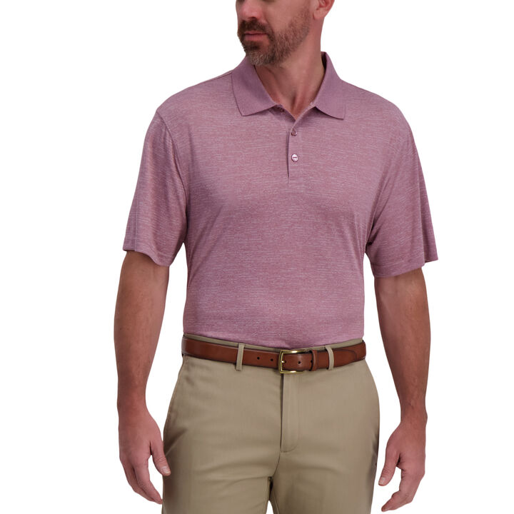Space Dye Golf Polo,  Dusty Pink