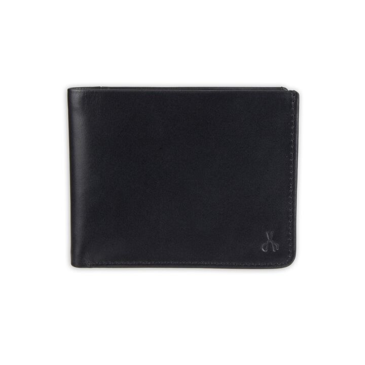 RFID Extra Capacity Slimfold Wallet - Best Dad Ever Emboss, Black open image in new window