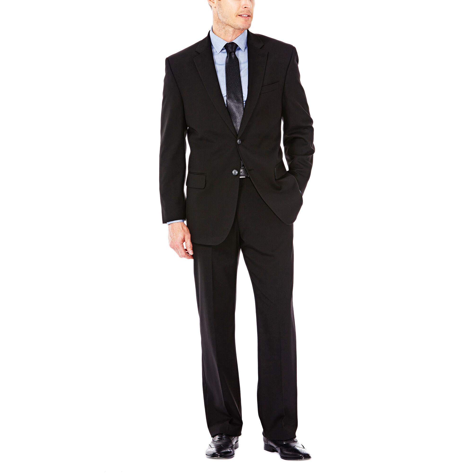 a9dad41c4b9 J.M. Haggar Premium Stretch Suit Jacket, Black, hi-res. J.M. Haggar Premium  Stretch Suit Pant - Flat Front ...