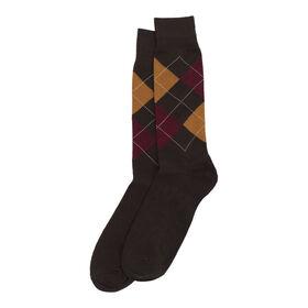 Argyle w/ Overplaid Sock, Taupe