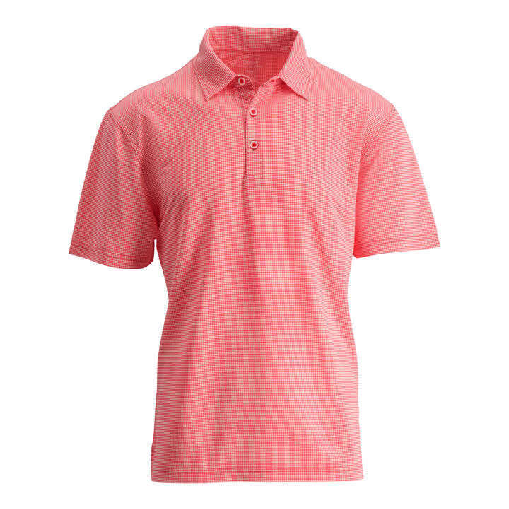 Small Gingham Polo, Coral Dreams