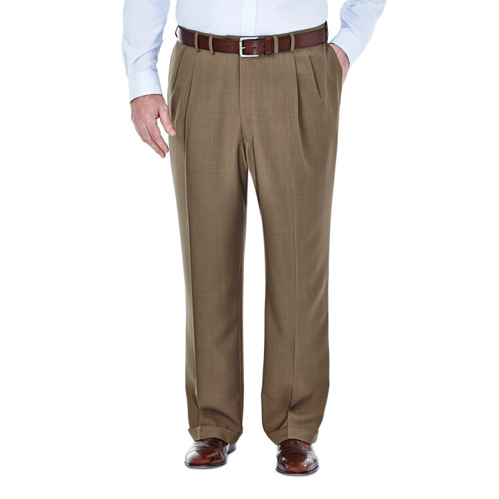 Big & Tall E-CLO™ Stria Dress Pant, Khaki