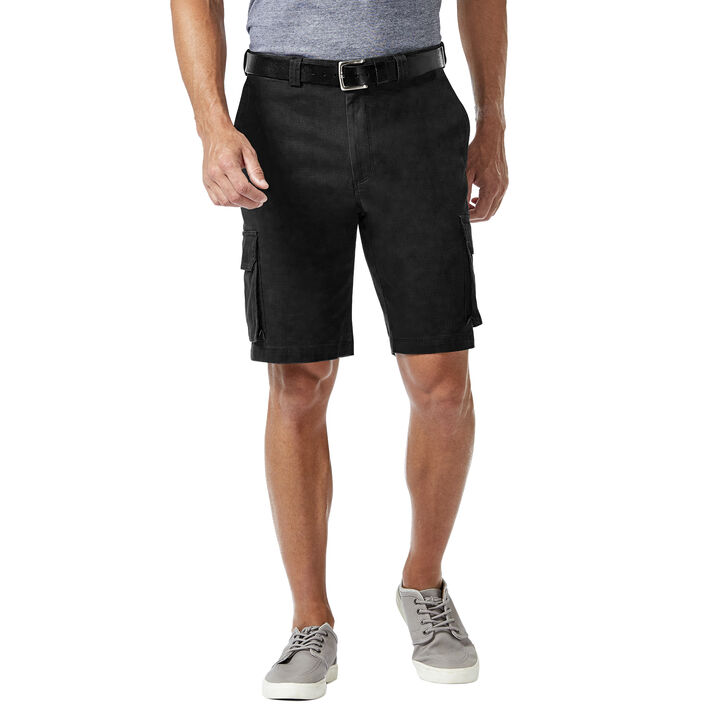 Stretch Cargo Short w/ Tech Pocket, Black
