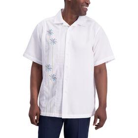 Palm Side Panel Button Down Shirt, White
