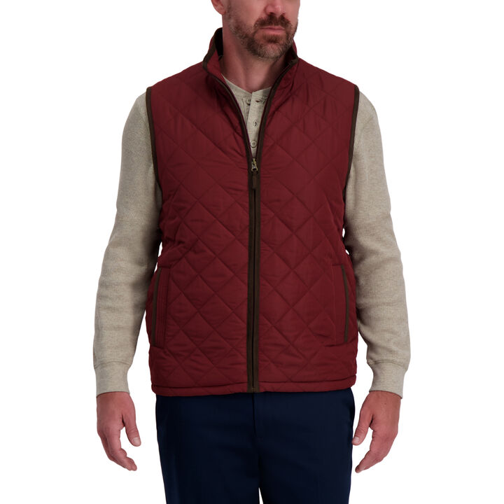 Quilted Vest,  Burgundy