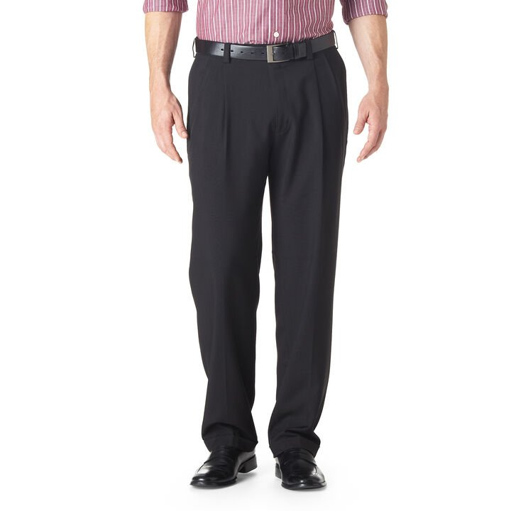 E-CLO™ Stria Dress Pant, Heather Grey open image in new window