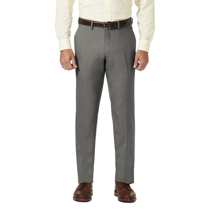 J.M. Haggar Dress Pant - Sharkskin, Medium Grey