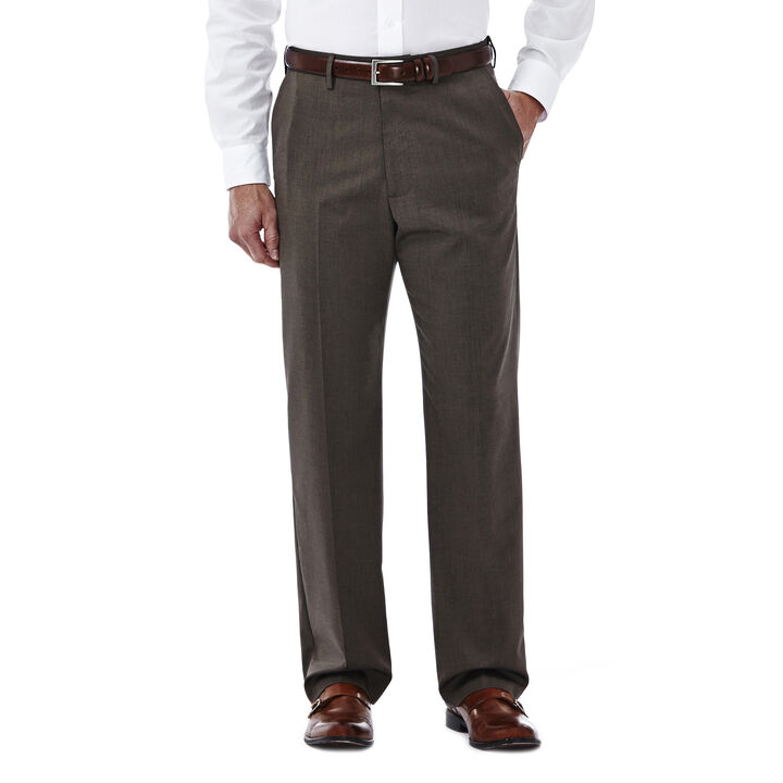 Premium Stretch Solid Dress Pant, Medium Brown open image in new window