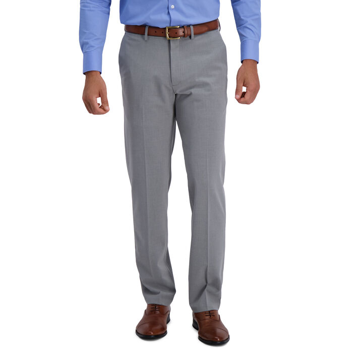 J.M. Haggar 4-Way Stretch Dress Pant, Grey open image in new window